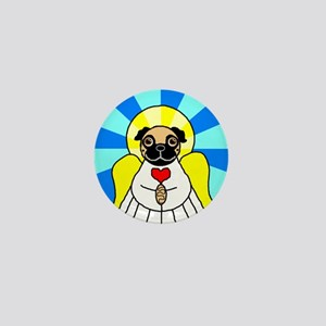 Pug Angel - Fawn Mini Button