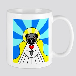 Pug Angel - Black Mug
