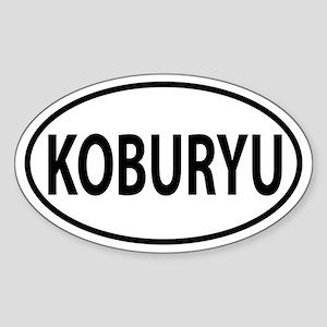 Koburyu Oval decal Sticker (Oval)