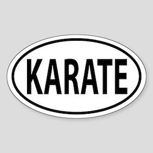 Karate Oval decal Sticker (Oval)