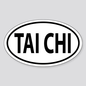 Tai Chi Oval decal Sticker (Oval)