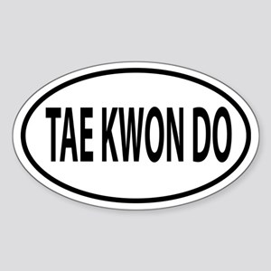 Tae Kwon Do, TKD Oval decal Sticker (Oval)