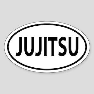 Jujitsu Oval decal Sticker (Oval)