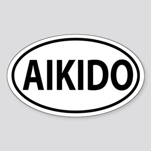 Aikido Oval decal Sticker (Oval)