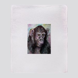 Chimp, colorful, Throw Blanket