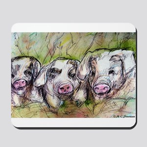 Three Little Pigs, Cute, Mousepad