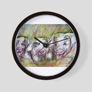 Three Little Pigs, Cute, Wall Clock