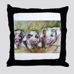 Three Little Pigs, Cute, Throw Pillow