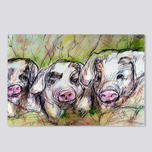 Three Little Pigs, Cute, Postcards (Package of 8)