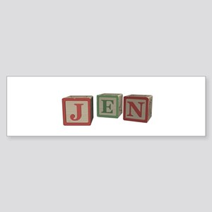 Jen Alphabet Block Sticker (Bumper)