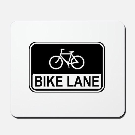 Bike Lane Sign Mousepad