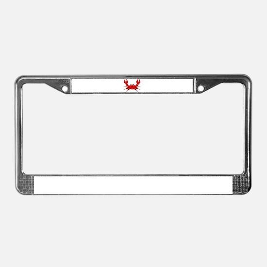 Crab License Plate Frame