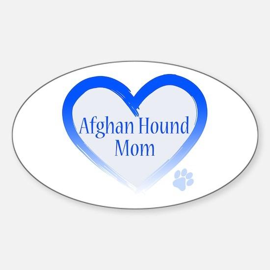 Afghan Blue Heart Sticker (Oval)