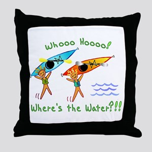 Where's the Water Throw Pillow