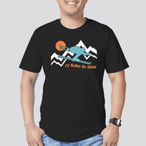 I'd Rather Be Skiing Men's Fitted T-Shirt (dark)