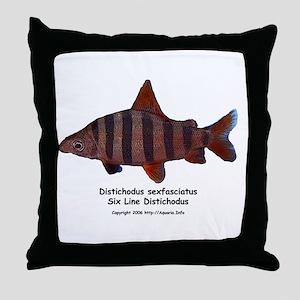 Distichodus sexfasciatus Throw Pillow
