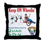 WoofDriver's Quad ADV Throw Pillow
