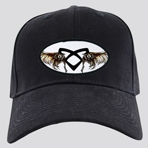 Angelic Wings - Black Cap with Patch