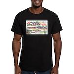 Shakespeare Plays Men's Fitted T-Shirt (dark)