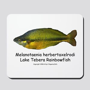 Lake Tebera Rainbowfish Mousepad