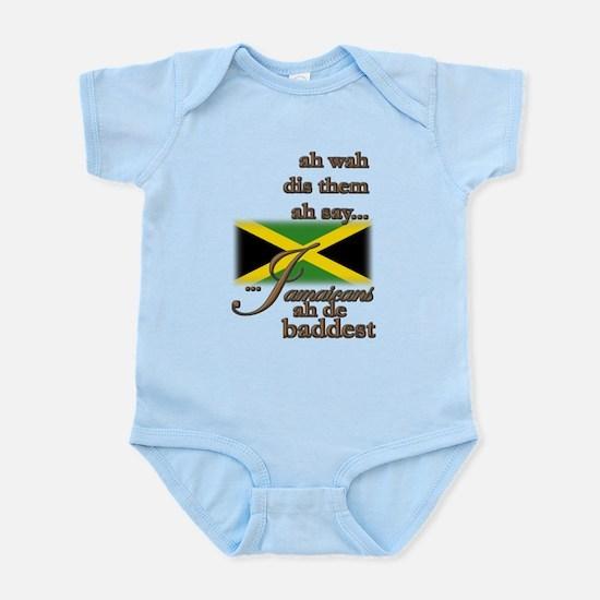 Jamaicans ah de baddest! - Infant Bodysuit