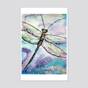 Dragonfly, colorful, fun, Mini Poster Print