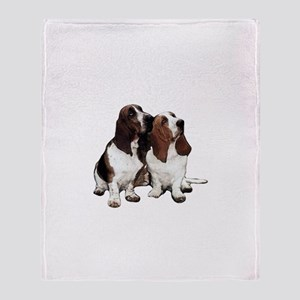 Basset Hounds Throw Blanket