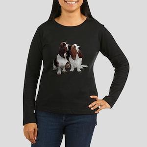 Basset Hounds Women's Long Sleeve Dark T-Shirt