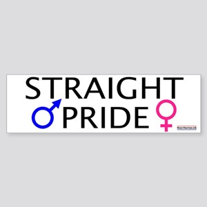 Straight Pride<br>Bumper Sticker