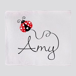 Ladybug Amy Throw Blanket
