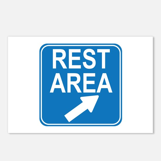 Rest Area Sign Postcards (Package of 8)