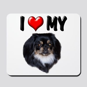 I Love My Pekingese (black) Mousepad