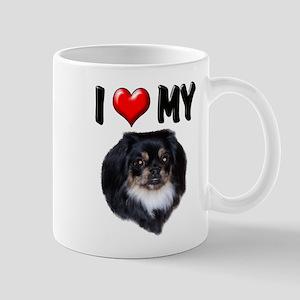 I Love My Pekingese (black) Mug