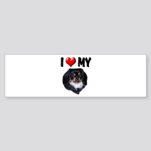 I Love My Pekingese (black) Sticker (Bumper)