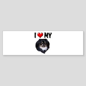 I Love My Pekingese (black) Sticker (Bumper)