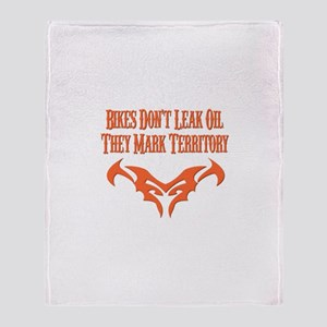 Bikes Don't Leak Oil Throw Blanket