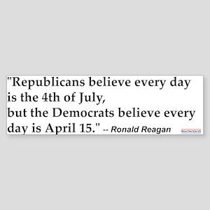 Ronald Reagan Quote #1 Bumper Sticker