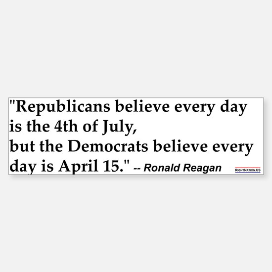Ronald Reagan Quote #1 Bumper Bumper Bumper Sticker