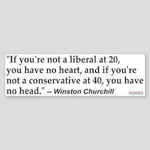 Churchill Quote #1<br>Bumper Sticker