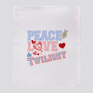 Peace Love Twilight Throw Blanket