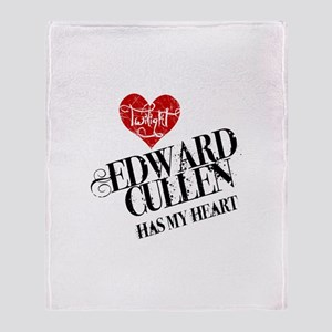 Edward Has My Heart Throw Blanket