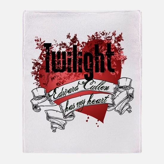 Edward Cullen Has My Heart Throw Blanket