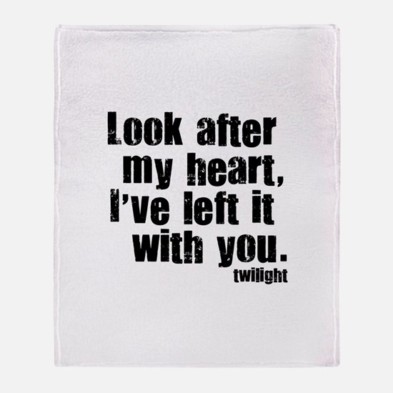 Twilight Movie Quote Throw Blanket