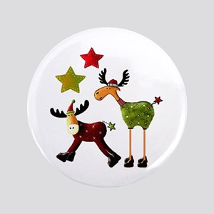"Winter Star Mooses 3.5"" Button"