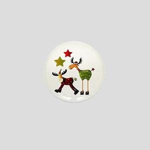 Winter Star Mooses Mini Button