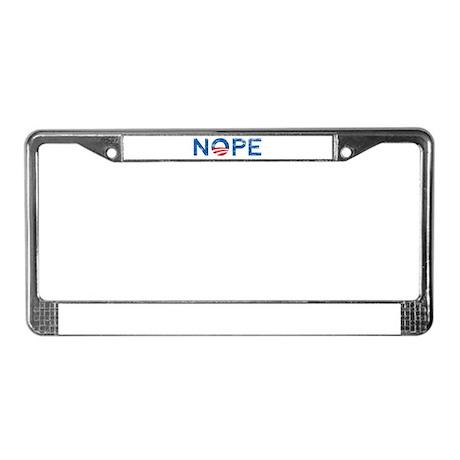 NOPE Anti Obama License Plate Frame