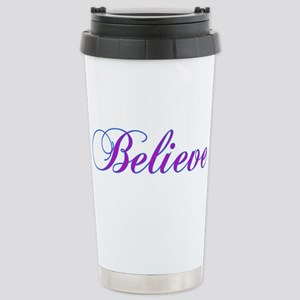 Believe Gifts in Purple & Teal Stainless Steel Tra