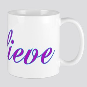 Believe Gifts in Purple & Teal Mug