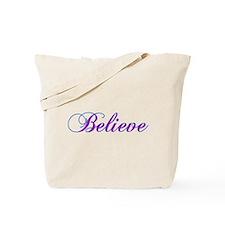 Believe Gifts in Purple & Teal Tote Bag