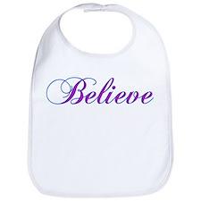 Believe Gifts in Purple & Teal Bib